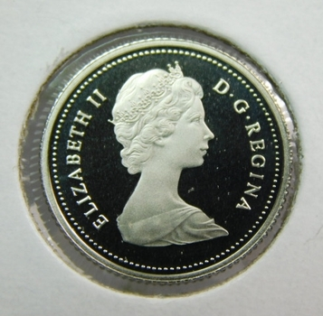 1981 Canada Cameo Proof With Frosted Relief Low Mintage 10 Cents Coin (Dime)