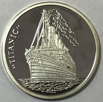 Titanic Ship .999 Fine Commemorative Proof Silver Round