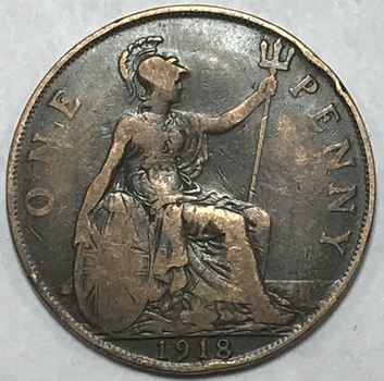 1918 Great Britain Large Penny