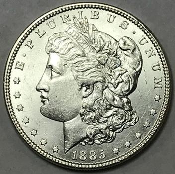 1885 Morgan Silver Dollar - High Grade Brilliant Uncirculated