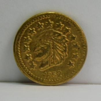 1852 California Gold Replica Token