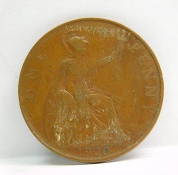 "1920 British ""One Penny"" King George V"