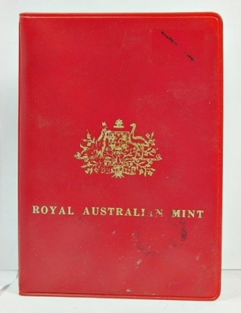 1970 Designs of Australian Coins from the Royal Australian Mint - 6 Coin Set in Plastic Wallet