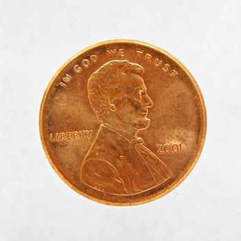 MINT ERROR - 2001 Lincoln Cent Broadstruck Error
