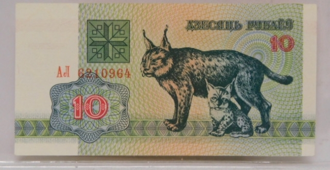 1992 Belarus 25 Ruble Banknote Crisp