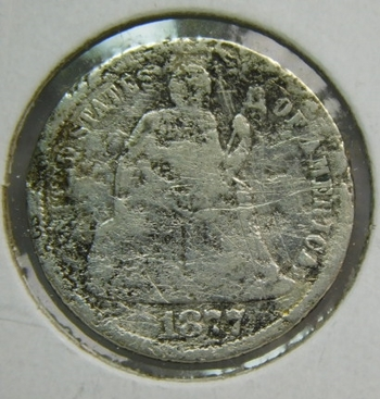 1877 Silver Seated Liberty Dime