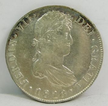 1818 Guatemala Silver 8 Reales - High Grade!