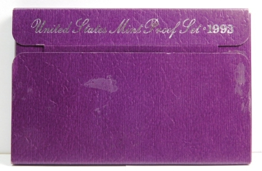1993 United States Mint Proof Set With Box and COA