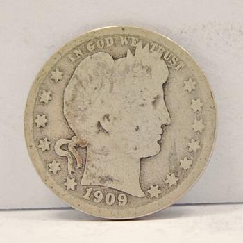 1909-D Silver Barber Quarter
