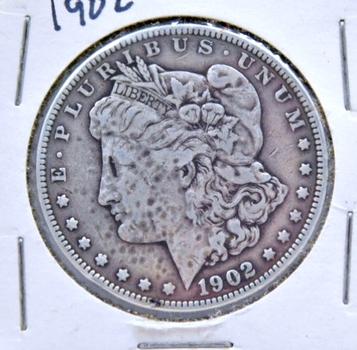 SCARCE DATE 1902 Morgan Silver Dollar - Philadelphia Minted