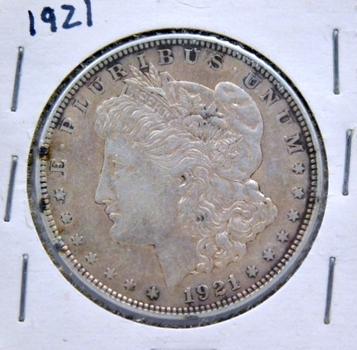1921 Morgan Silver Dollar - Last Year of Issue