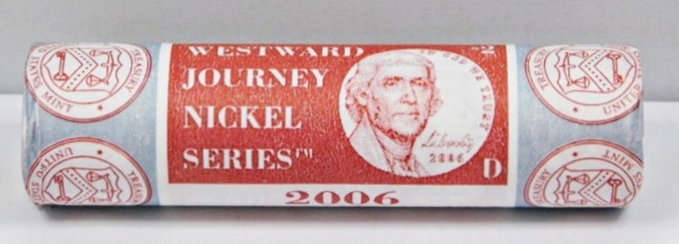 2006-D Brilliant Uncirculated Mint Roll of Westward Journey Jefferson Nickels - Unopened Mint Roll