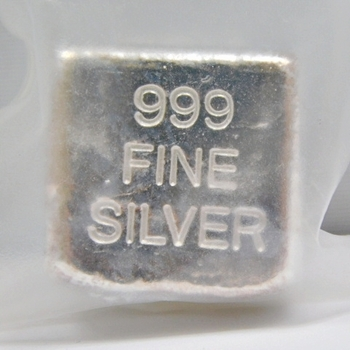 2 oz .999 Fine Silver Hand Poured Cube - Minted by Yeager's Poured Silver