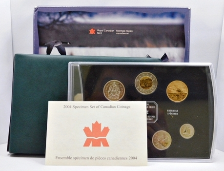 2004 Canada Specimen Set in Original Royal Canadian Box and Packaging
