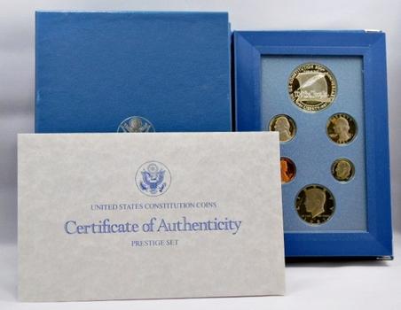 1987 U.S. Mint Silver Prestige Proof Set w/U.S. Constitution 200th Anniversary Commemorative Silver Dollar