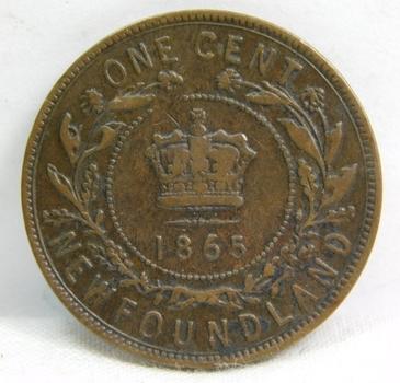 1865 Canada New Foundland Province Large Cent - Nice Higher Grade