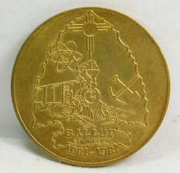 1881-1981 $1 Gallup, New Mexico Commemorative Trade Token