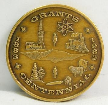 1882-1982 Grants, New Mexico Centennial Commemorative Coin/Medal