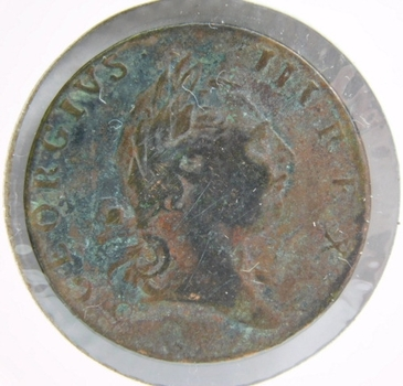 1773 Virginia Colonial Halfpenny (Period After Georgivs Variety)