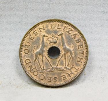 1958 Rhodesia And Nyasaland Half Penny High Grade