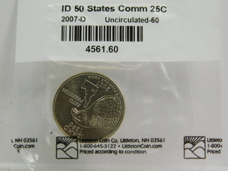 2007-D Idaho Commemorative State Quarter - Graded Uncirculated 60 and Packaged by The Littleton Coin Company