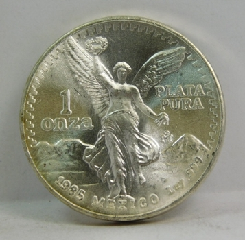 1985 Mexico Libertad 1 oz .999 Fine Silver Onza - High Grade Brilliant Uncirculated