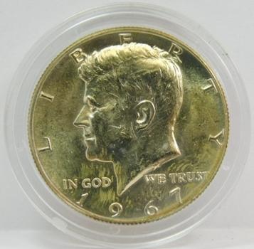 1967 Silver Kennedy Half Dollar - In Original Protective Capsule