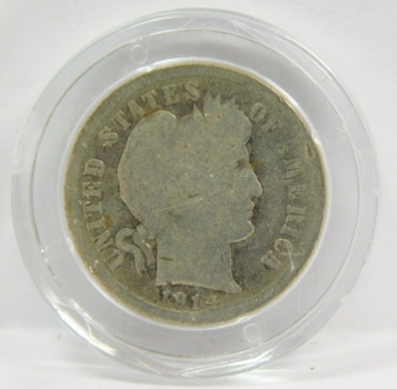1914-D SILVER Barber Dime