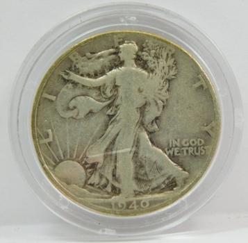 1940 Silver Walking Liberty Half Dollar