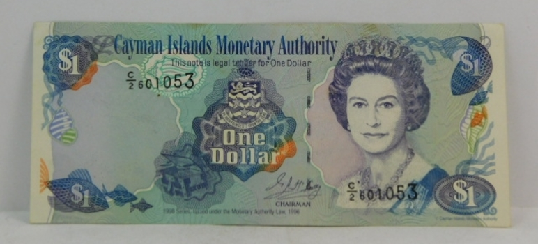 "1998 U.K. Cayman Islands ""1 Dollar"" Uncirculated Note"