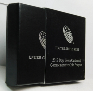 2017-P Boys Town Centennial Commemorative Uncirculated Silver Dollar - Comes with Original Packaging from the Philadelphia Mint