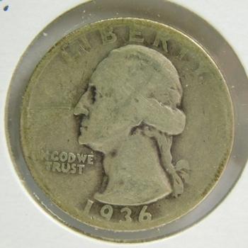 1936-S Silver Washington Quarter - San Francisco Minted