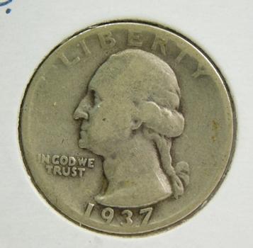 1937-D Silver Washington Quarter - Struck at the Denver Mint