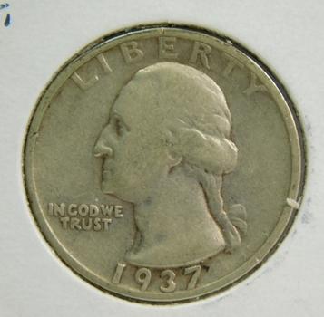 1937-S Silver Washington Quarter - Struck in San Francisco