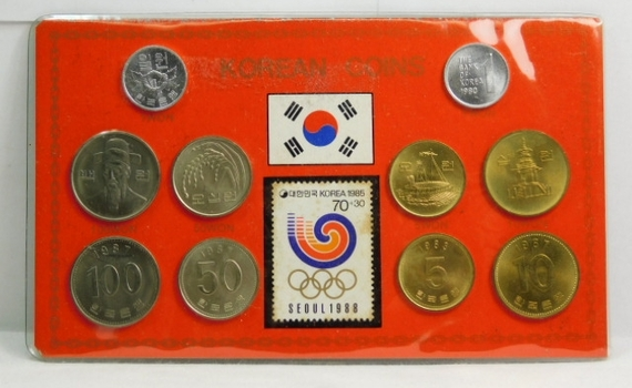 1988 Olympic Games - Seoul, Korea Coin and Stamp Set