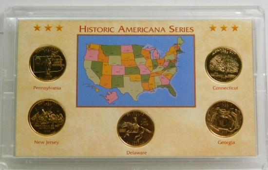1999 Historic Americana Gold Plated Quarter Series