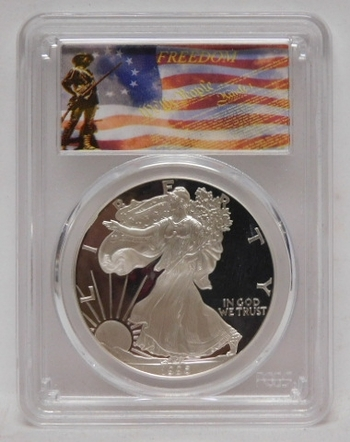 1996-P Proof American Silver Eagle - Graded PR69 DCAM by PCGS - Struck in Philadelphia