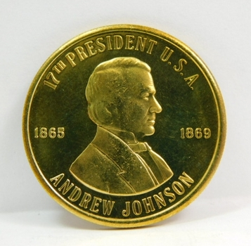 Andrew Johnson - 17th President of the United States - Commemorative Coin/Medal