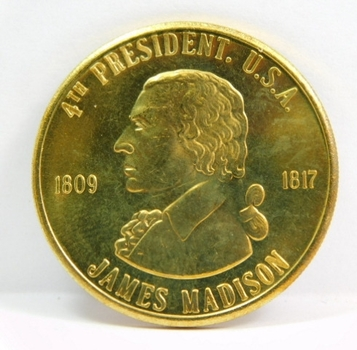 James Madison - 4th President of the United States - Commemorative Coin/Medal