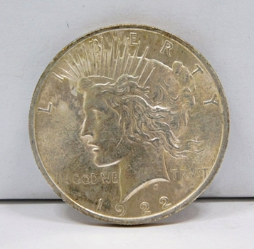1922 Peace Silver Dollar - Excellent Detail and Luster - Philadelphia Minted