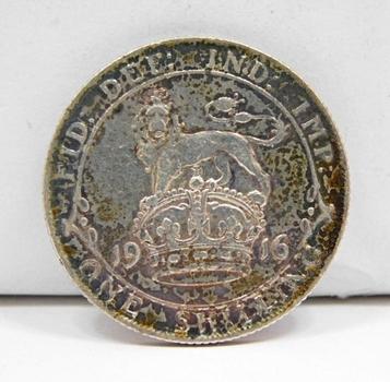 1916 Great Britain Silver Shilling