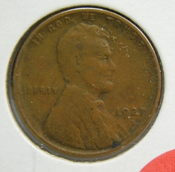 1927-S Lincoln Wheat Cent - Struck at the San Francisco Mint