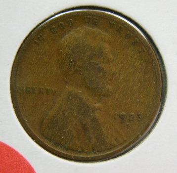 1923-S Lincoln Wheat Cent - Struck at the San Francisco Mint