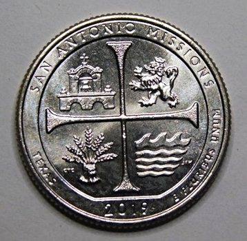 RARE 2019-W San Antonio Missions - Texas - West Point Minted Quarter