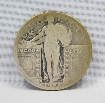 1928-S Silver Standing Liberty Quarter - San Francisco Minted