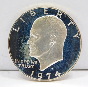 "1974-S Proof Eisenhower ""IKE"" Silver Dollar - Excellent Detail and DCAM"