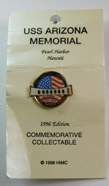 1996 Edition USS Arizona Memorial Pearl Harbor Commemorative Pin