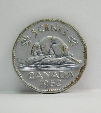 1952 Canada 5 Cents