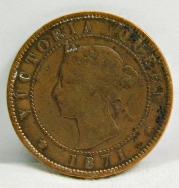 1871 Canada Prince Edward Island Province Large Cent