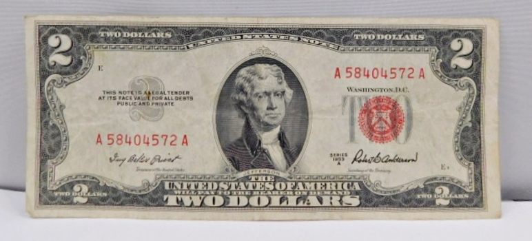 1953A $2 Red Seal U.S. Legal Tender Note